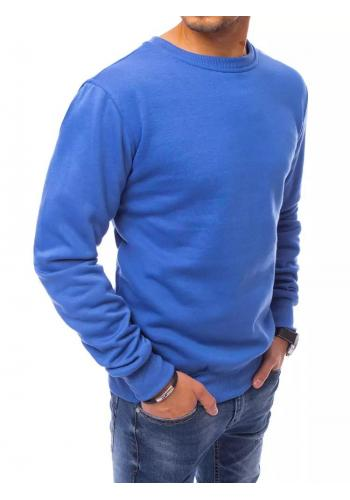 Klasické pánské mikiny modré barvy bez kapuce