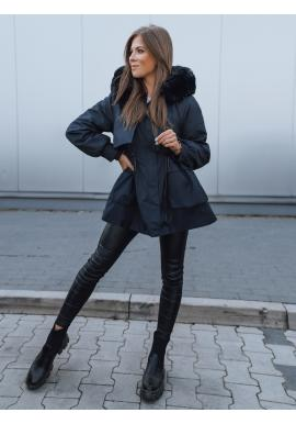Modrá zimní bunda s regulací v pase pro dámy