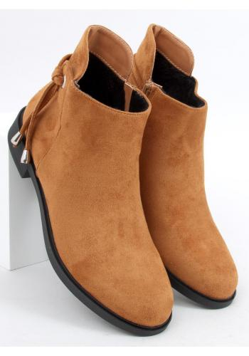 Hnědé semišové boty s kulatými špičkami pro dámy