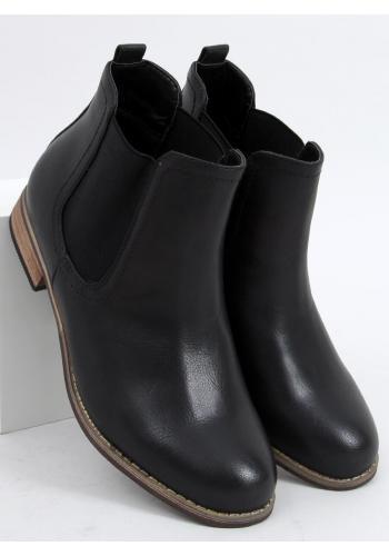 Dámské klasické boty s elastickými vložkami v černé barvě