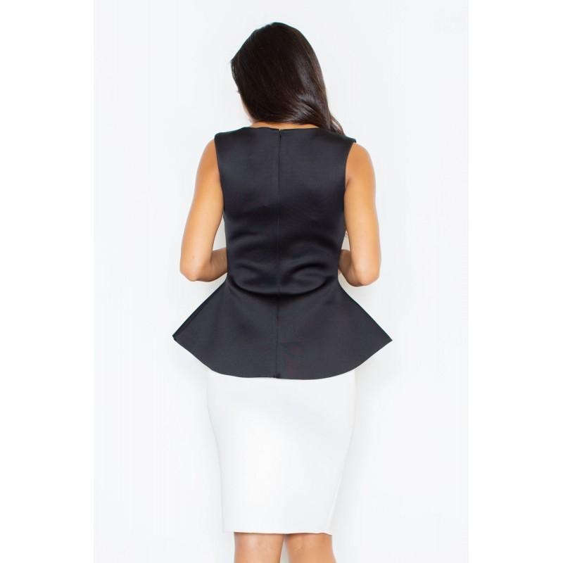 Dámská pěnová sukně v klasickém střihu černé barvy
