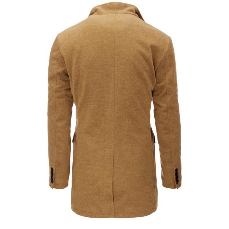 Pánský jednořadý kabát na zimu v černé barvě