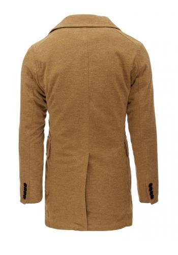 Pánský dvojřadový kabát na zimu v černé barvě