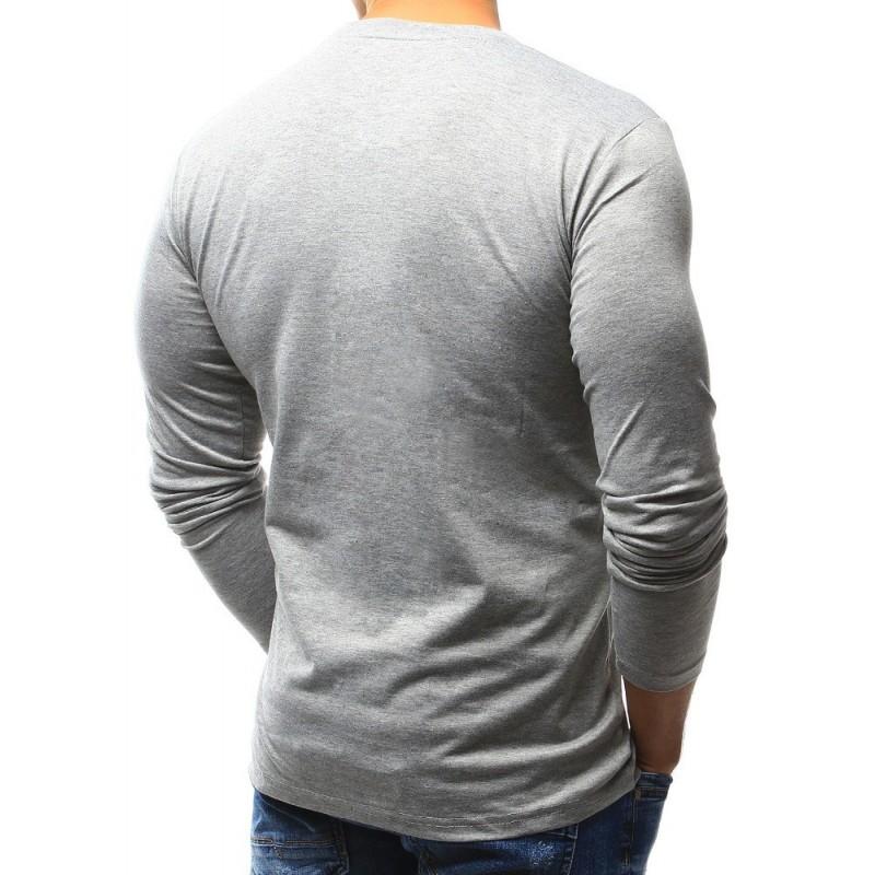 Černé klasické tričko s dlouhým rukávem pro pány