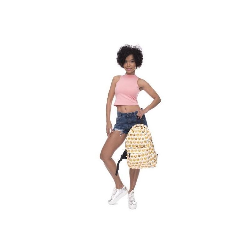 Růžový dámský batoh s motivem koček