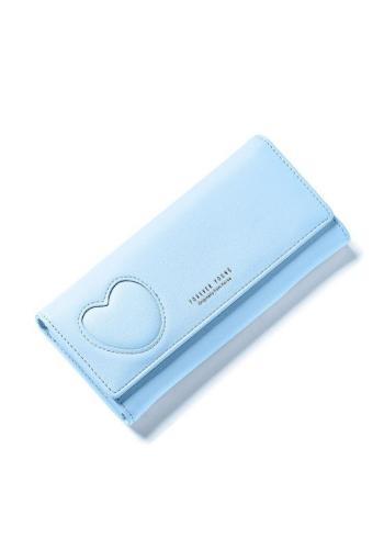 Elegantní dámské peněženky mátové barvy se srdcem