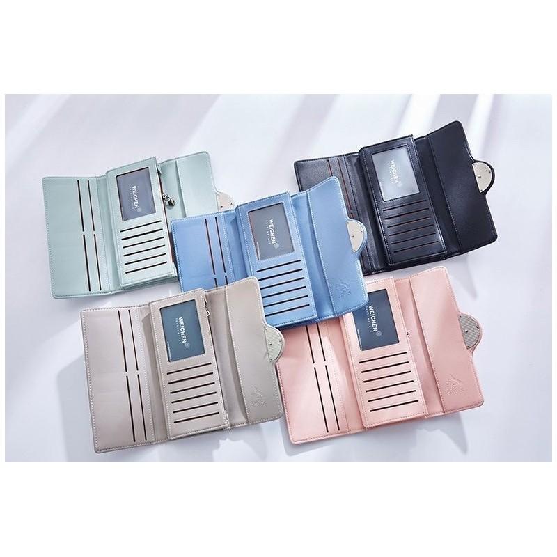 Modrá elegantní peněženka s ozdobou pro dámy