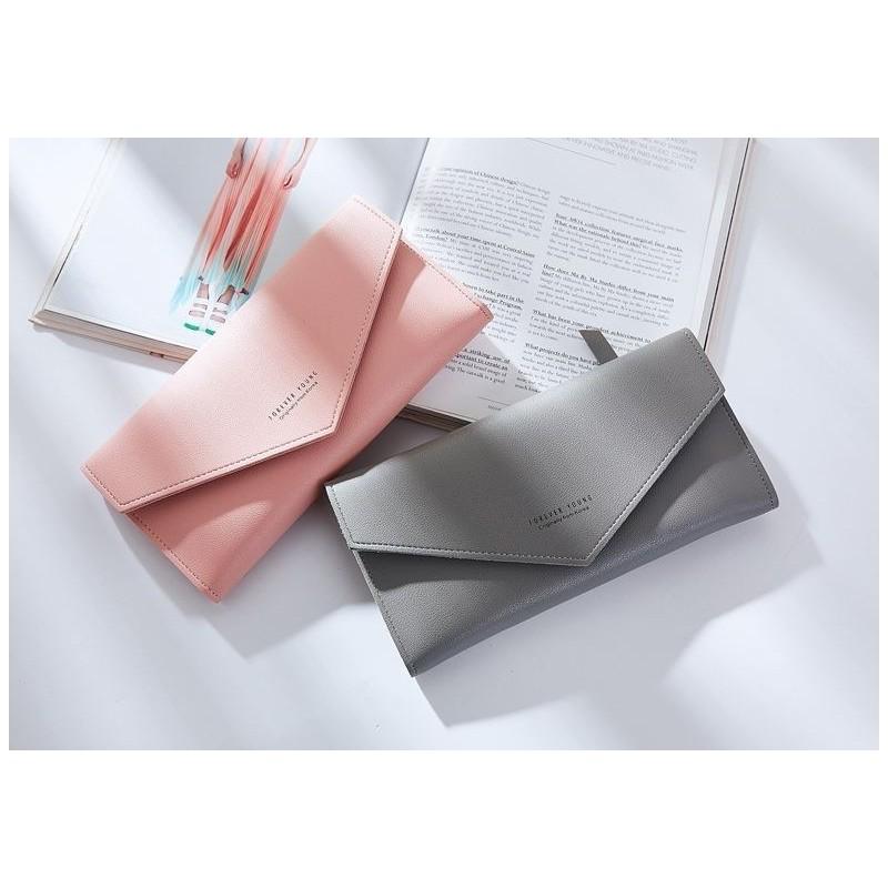 Dámská módní peněženka v šedé barvě