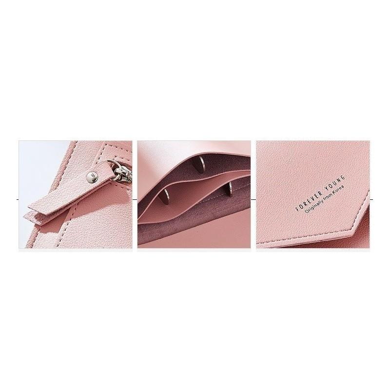 Růžová módní peněženka pro dámy