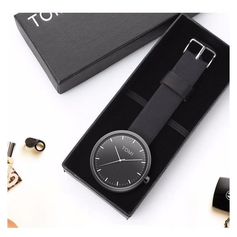 Pánské hodinky Tomi s černým ciferníkem v černé barvě