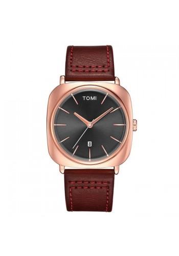 Retro hodinky Tomi pro pány v černé barvě