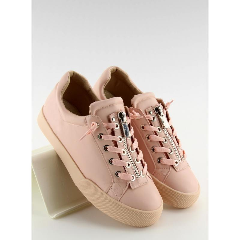 775603dd298 Dámské stylové tenisky s ozdobným zipem v růžové barvě - dokonalamoda.cz
