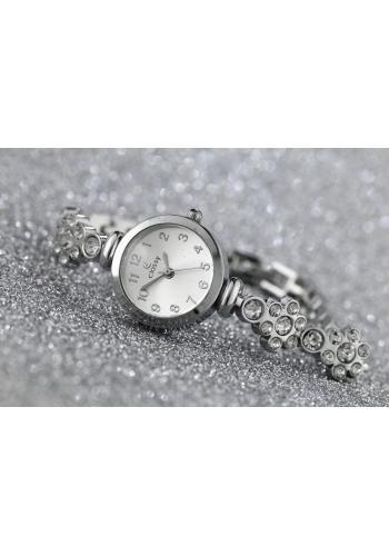 Dámské hodinky na koženém řemínku v bordové barvě