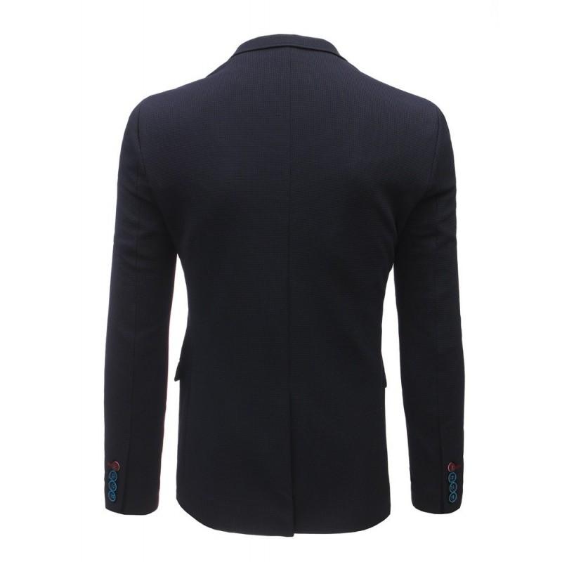 Jednořadové pánské sako tmavě modré barvy