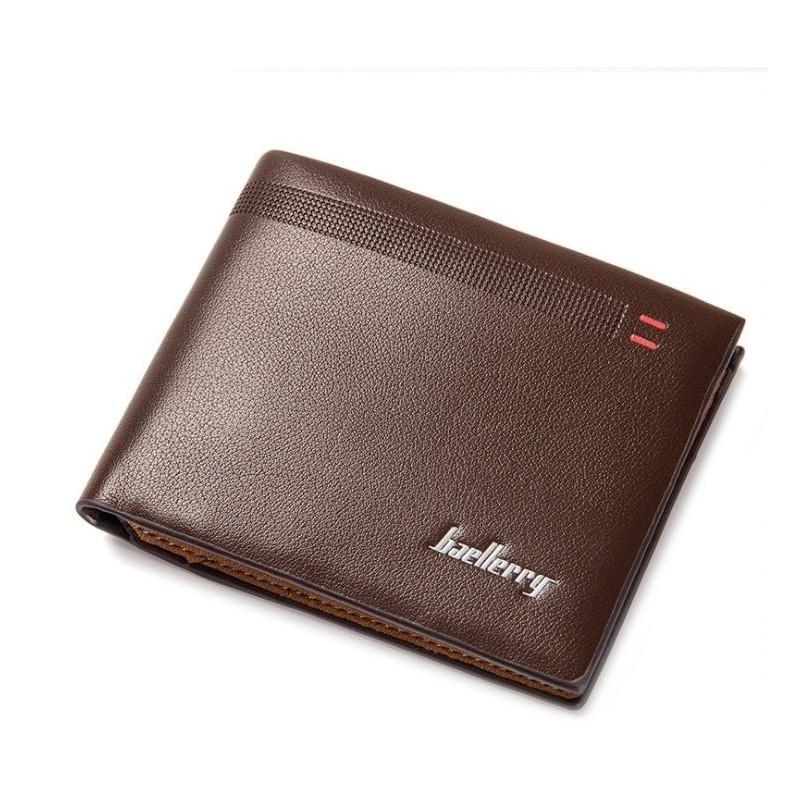 Černá módní peněženka z ekokůže pro pány