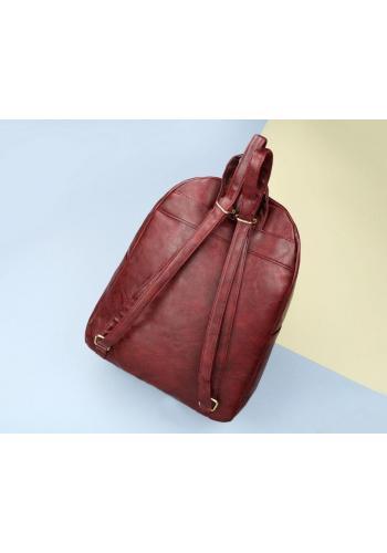 Módní dámský batoh hnědé barvy z ekokůže