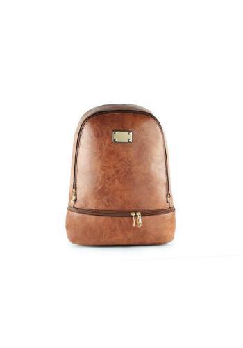 Dámský stylový batoh z ekokůže v černé barvě