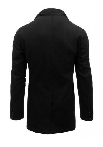 Jednořadový pánský kabát šedé barvy s odepínacím límcem