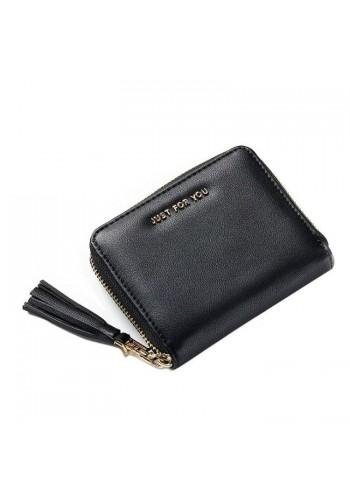 Dámská malá peněženka s třásněmi v šedé barvě