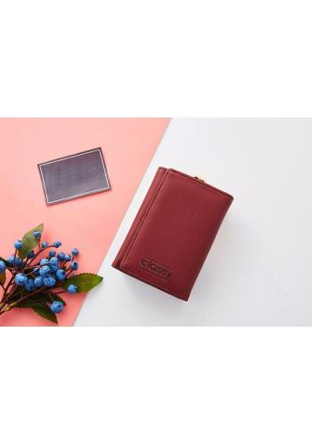 Stylová dámská peněženka červené barvy
