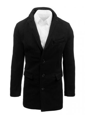 Černý dlouhý kabát pro pány ve slevě