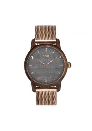 Černé dřevěné hodinky s koženým řemínkem pro dámy