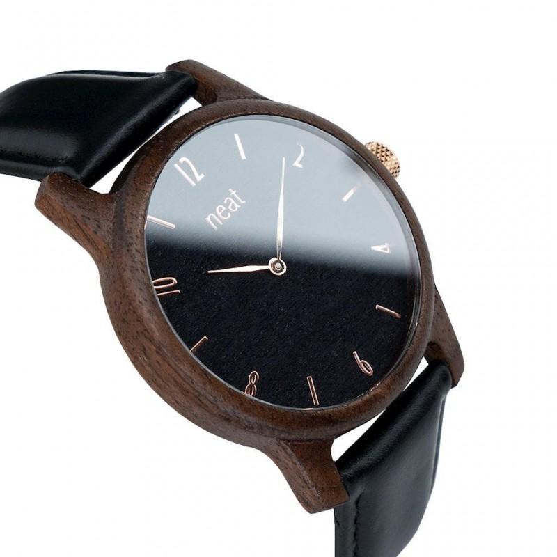 Dřevěné dámské hodinky šedo-zlaté barvy s kovovým řemínkem